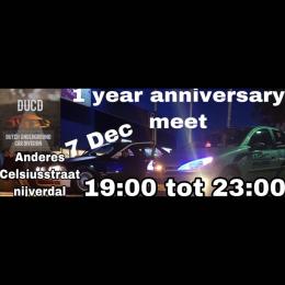 1 Year anniversary Meeting